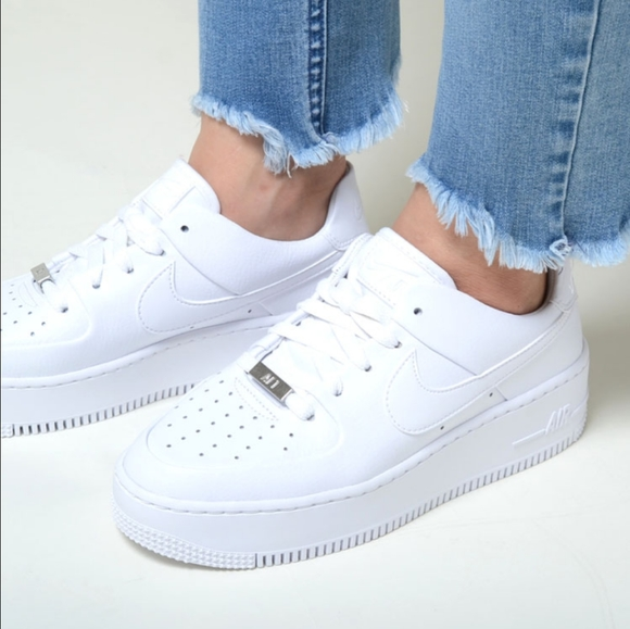 Nike Shoes Womens Air Force 1 Sage Low White Sneakers Poshmark
